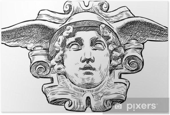 Plakát Head of Hermes - Památky