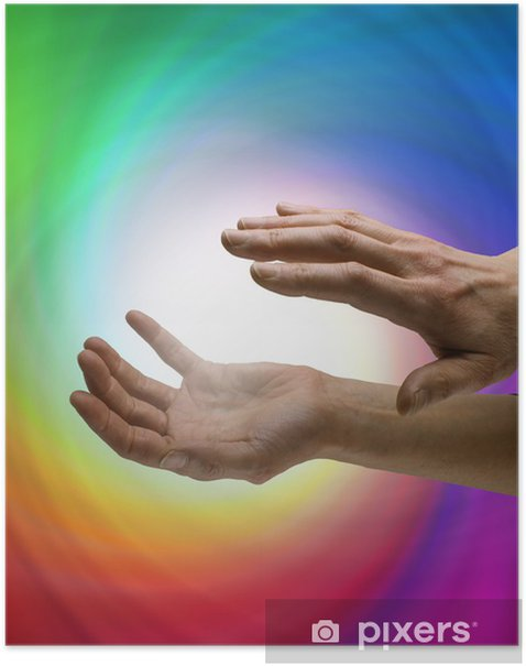 Plakat Healer pracy z wiru energii - Zdrowie i medycyna
