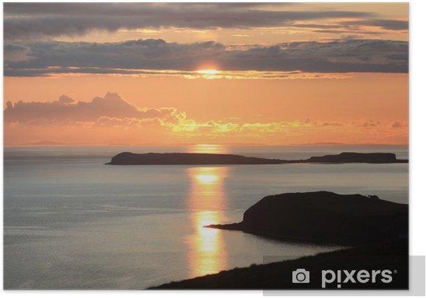 Plakat Hebridean słońca - Niebo