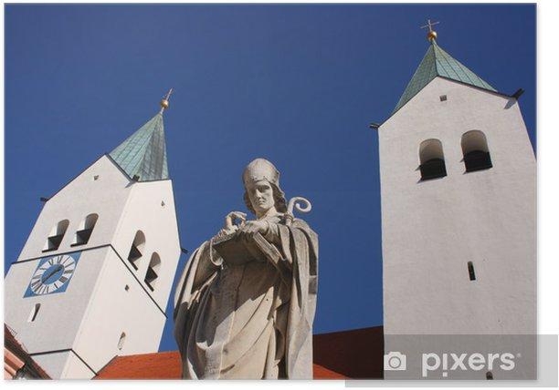 Plakát Heiliger Korbinian vor Freisinger Dom - Náboženství