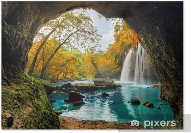 Plakat Heo suwat waterfall - Krajobrazy