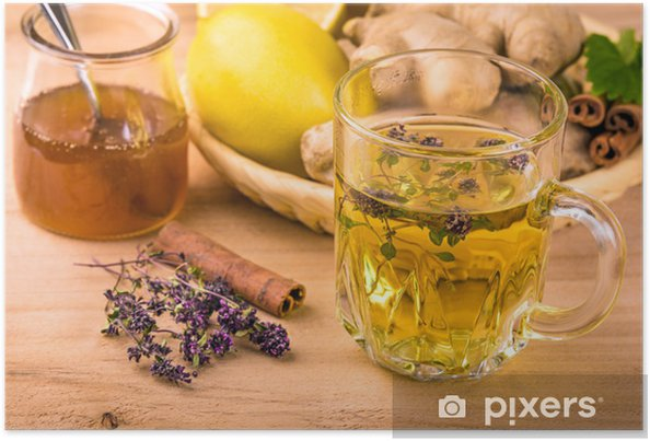 Plakat Herbata ziołowa - Gorące napoje
