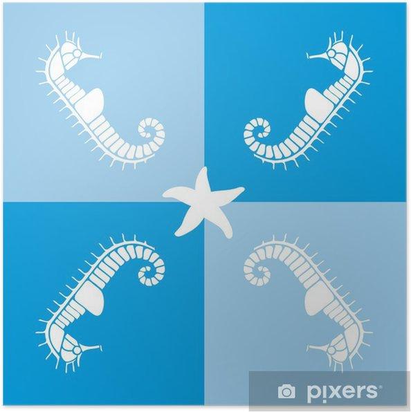 Plakat Hippocampe - Zwierzęta żyjące pod wodą