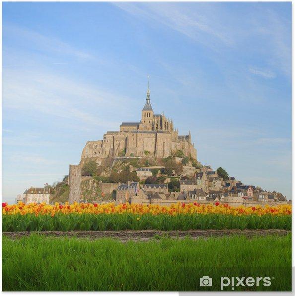 Plakát Hora Mont-Saint-Michel, Francie - Památky