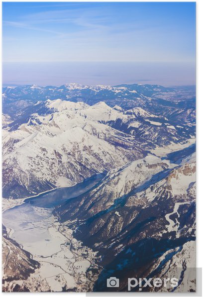 Plakát Hory Alpy na Rakousko - Prázdniny