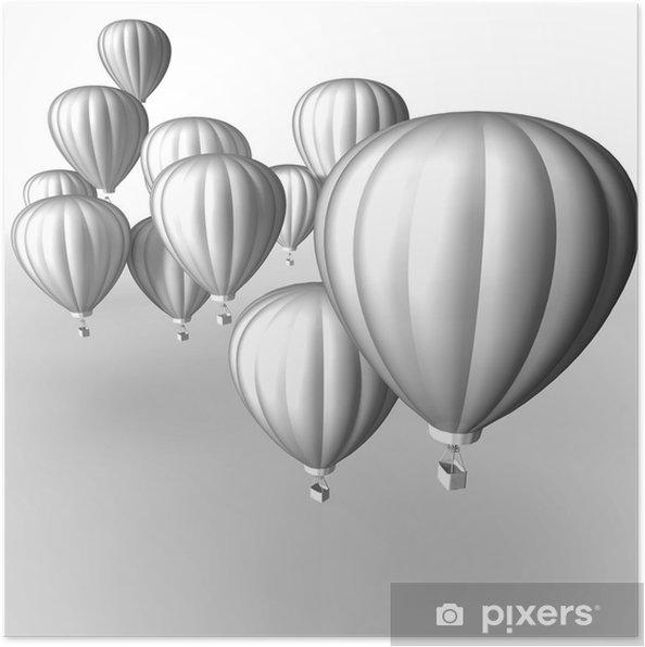 Plakát Hot air ballon - Značky a symboly