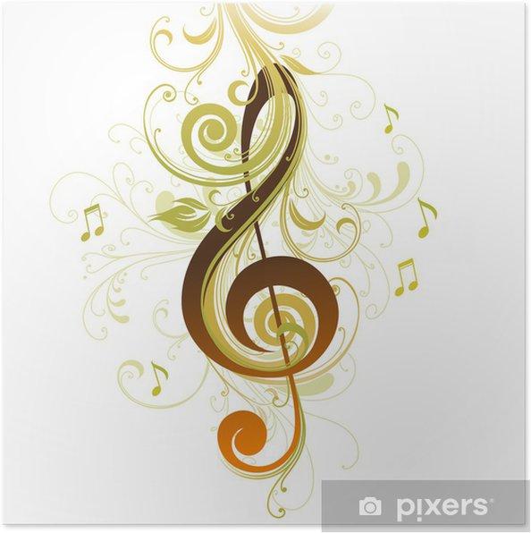 Plakát Houslový klíč - Hudba