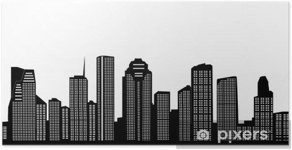 Plakat Houston skyline - Inne