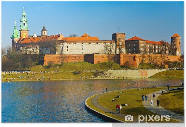 Plakát Hrad Wawel a Vistula bulváry v Krakově, Polsko - Témata