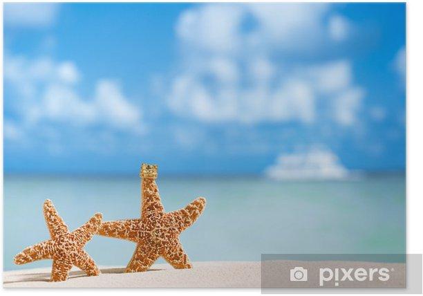 Plakát Hvězdice s výhledem na oceán, pláže a přímořská krajina - Prázdniny