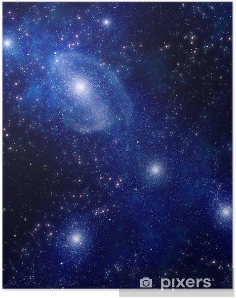 Plakát Hvězdná hluboký vesmír mlhoviny a galaxie - Témata