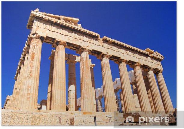 Plakat Iconic punkt orientacyjny Partenon w Atenach, Grecja - Tematy