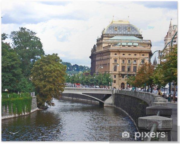 Plakat Idąc na Pragę - Miasta europejskie