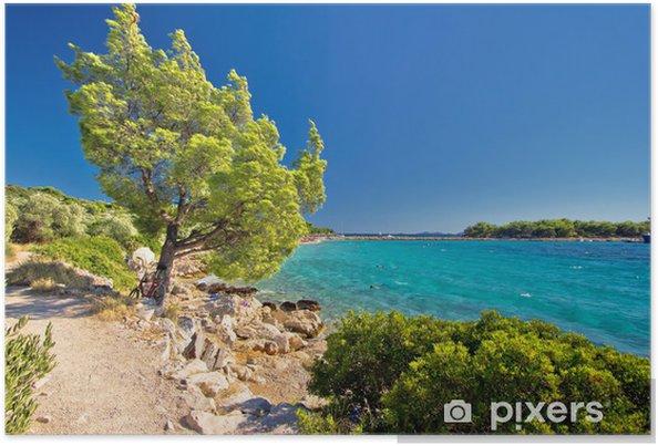 Plakát Idylická tyrkysová pláž v Chorvatsku - Témata