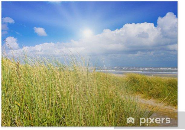 Plakat Idylliczny dzień w lecie na Morzu Północnym - Woda