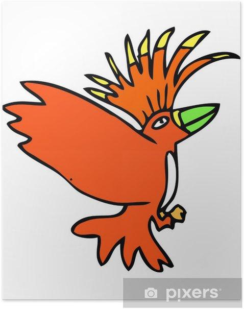Plakát Ikona pták - Imaginární zvířata