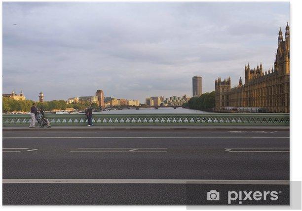 Plakat Il Tamigi e Westminster - Londyn - Miasta europejskie