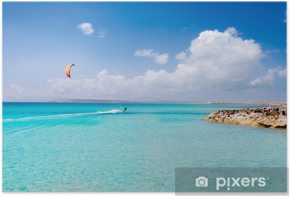 Plakat Illetas Formentera turquoise beach paradise Illetes - Sporty wodne