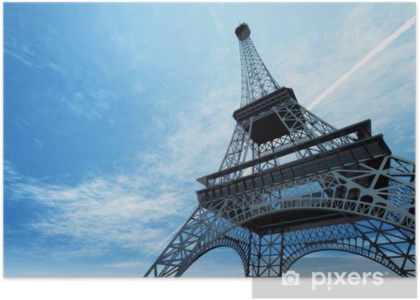 Plakát Ilustrace Eiffelovy věže v Paříži - Témata