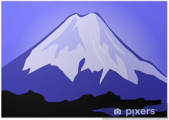 Plakat Ilustracja skałach Mount Everest - Cuda natury