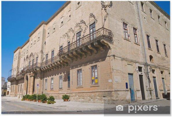Plakát Imperiali-Filotico Palace. Manduria. Puglia. Itálie. - Prázdniny