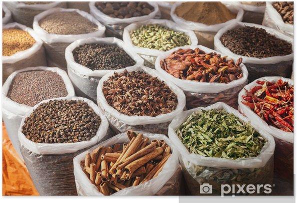 Plakat Indyjskich przypraw - Kulinaria
