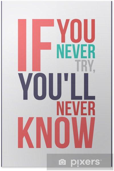 Plakat Inspiracja motywacja kolorowy plakat - Tematy