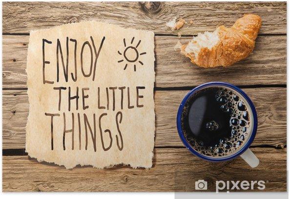 Plakat Inspirujące wcześnie rano śniadanie - iStaging