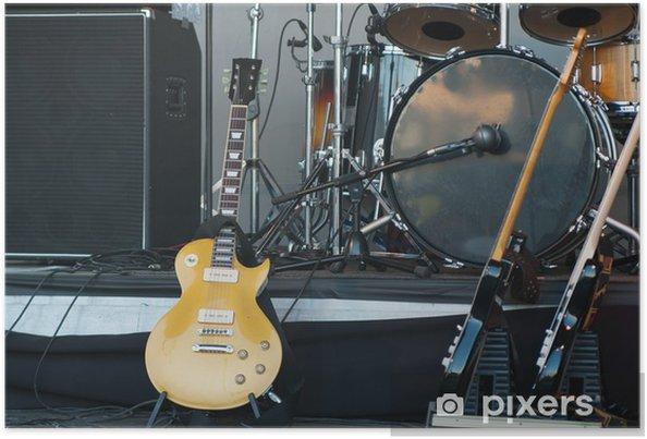Plakat Instrumenty Muzyczne Na Scenie Close Up Pixers żyjemy