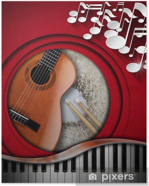 Plakat Instrumenty Muzyczne Tło Pixers żyjemy By Zmieniać