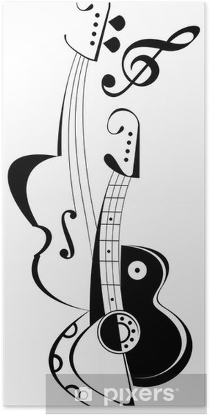 Plakat Instrumenty Muzyczne Pixers żyjemy By Zmieniać