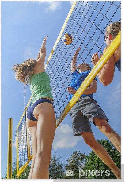 Plakat Intensywna gra w siatkówkę plażową - Tematy