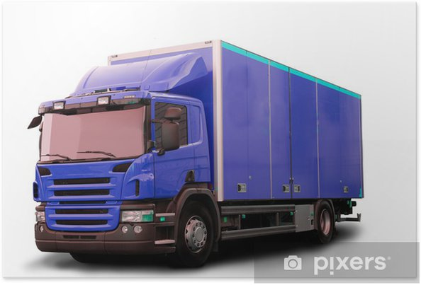 Plakat Isolated Tractor Truck - Transport drogowy