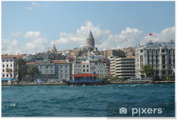 Plakát Istanbul Galata Turm - Střední Východ