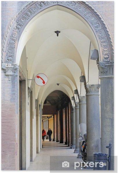 Plakát Itálie Bologna typický sloupoví. - Evropa