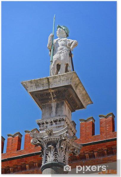Plakát Itálie, Ravenna, Saint Vitale socha Lidé čtverečních. - Evropa