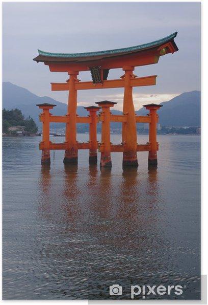 Plakat Itsukushima Sanktuarium, Hiroshima, Japonia - Budynki użyteczności publicznej