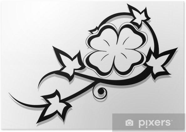 Plakat Ivy Tatuaż I Quatrefoil