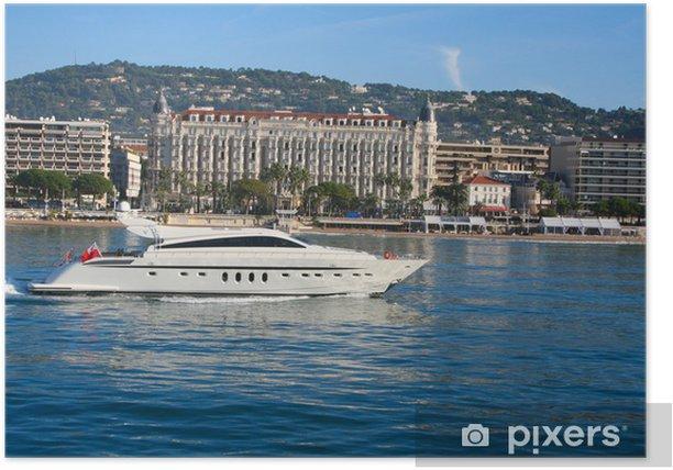 Plakát Jachta v zátoce Cannes - Lodě