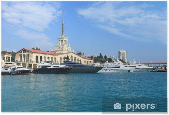 Plakat Jachty na raid w porcie Soczi - Transport wodny
