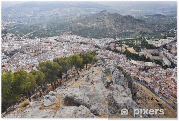 Plakát Jaen vidět z Santa Catalina hradu (Španělsko) - Evropa