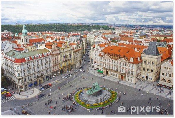 Plakat Jan Hus Pomnik w Rynku Starego Miasta w Pradze - Miasta europejskie