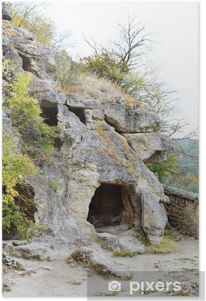 Plakat Jaskinie górskie Chufut Kale starożytnego miasta - Europa