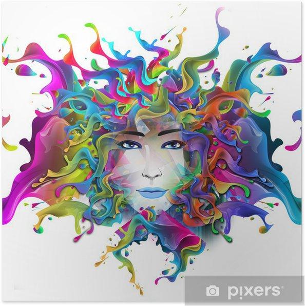 Plakat Jasne tło abstrakcyjne - Kobiety