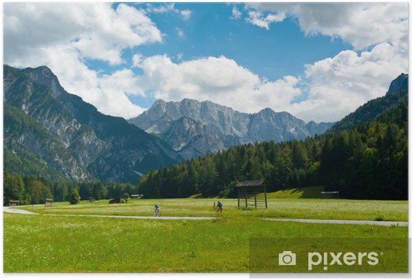 Plakat Jazda na rowerze w dolinie Planicy - Europa