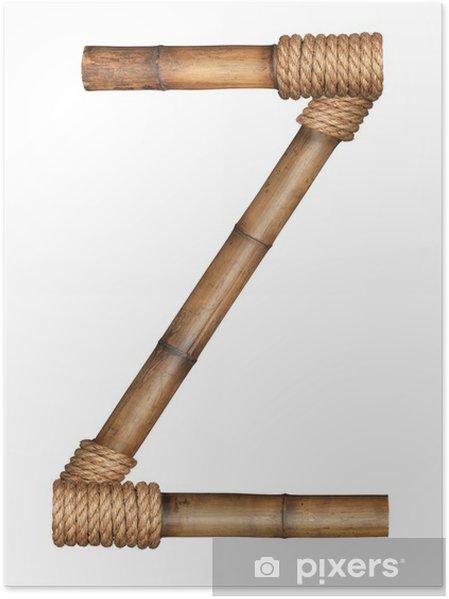 Plakát Jeden dopis z bambusu abecedy - Prázdniny