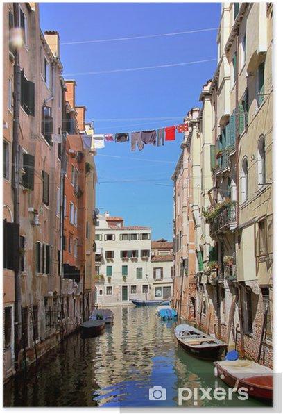Plakat Jeden z kanałów w Wenecji, - Europa