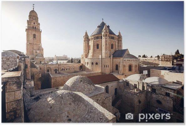 Plakat Jerozolima - Izrael - Budynki użyteczności publicznej