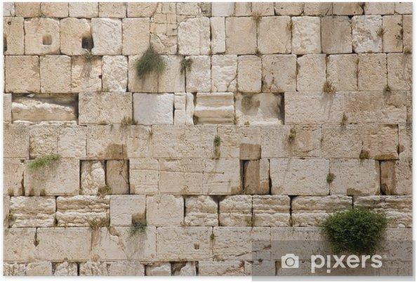 Plakat Jerozolima Ściana płaczu - zbliżenie - Zabytki