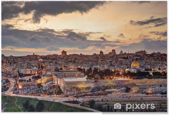 Plakat Jerozolima starego miasta skyline - iStaging